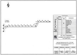 Denah kebutuhan 16 tiang listrik Dukuh Santren dari PLN Kota Madiun. Oleh PLN, warga Santren diminta memenuhi kuota daya 35. 200 Watt, atau tidak dapat sambungan listrik. Sumber: PLN Kota Madiun