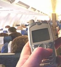 Phone at aircraft